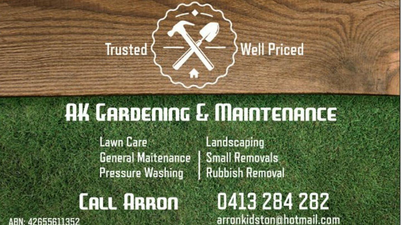 AK Gardening and Maintenance - Self Starter - Batemans Bay
