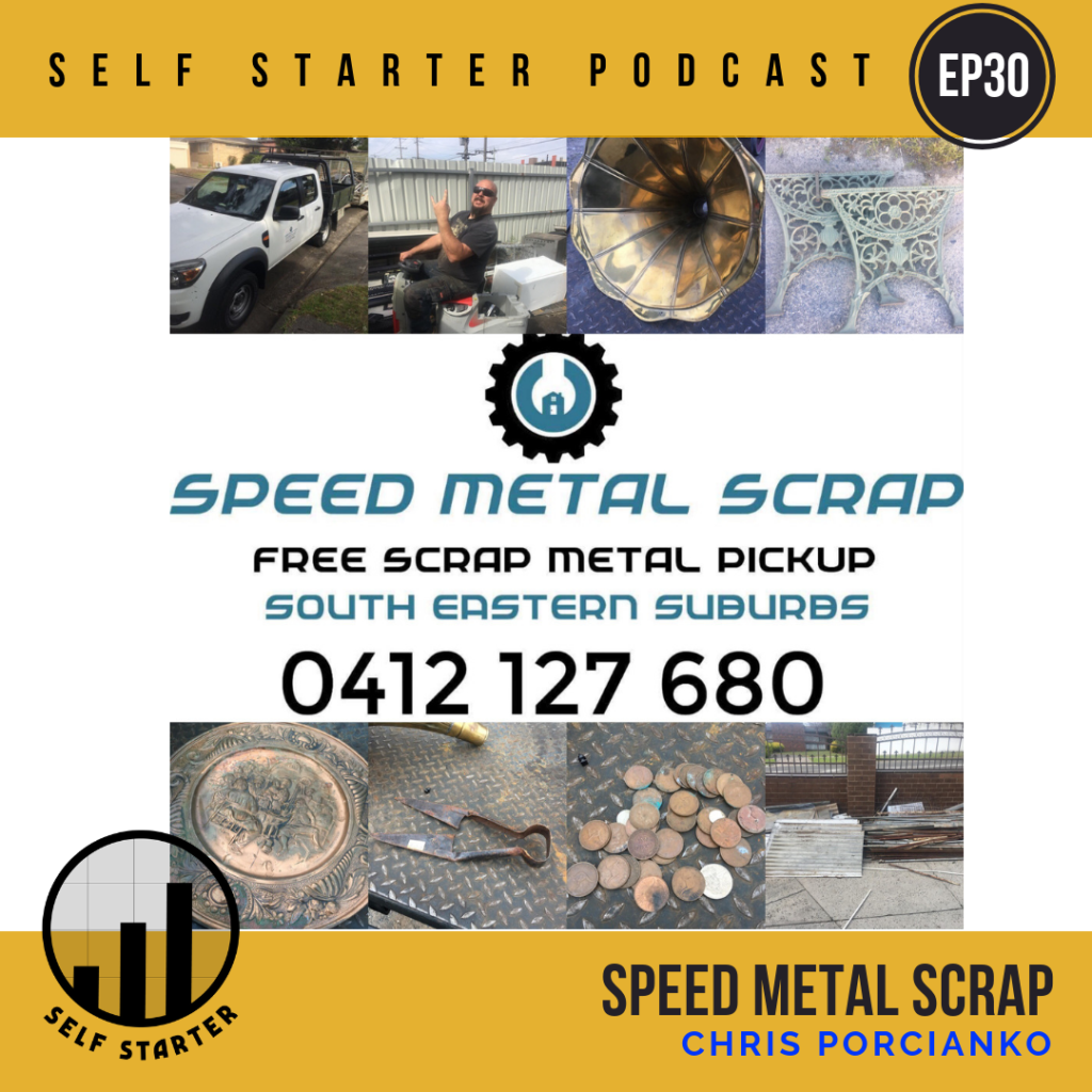 Speed Metal Scrap - Chris Porcianko - Self Starter Podcast - Vanishing Point