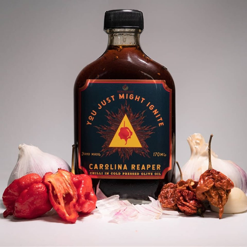 Carolina Reaper Olive Oil - Bondi Heat - Mishka Bobrov - Self Starter Podcast